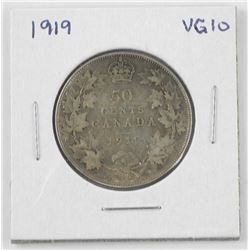 1919 Canada Silver 50 Cent. VG10