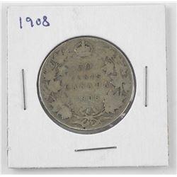 1908 Canada Silver 50 Cent.