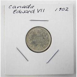 1902 Canada Silver 10 Cents Edward VII