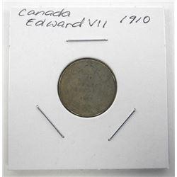 1910 Canada Silver 10 Cents Edward VII