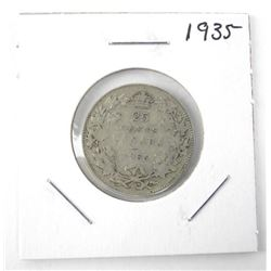1935 25 Cent .800 Silver George V