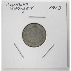 1918 Canada Silver 10 Cents George V