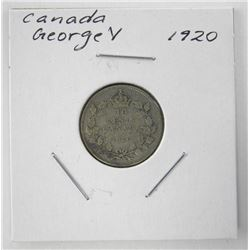 1920 Canada Silver 10 Cents George V