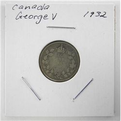 1932 Canada Silver 10 Cents George V