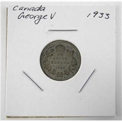 1933 Canada Silver 10 Cents George V