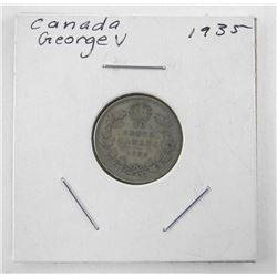 1935 Canada Silver 10 Cents George V