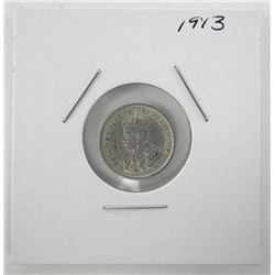 1913 Canada Silver 5 Cents George