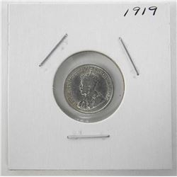 1919 Canada Silver 5 Cents George