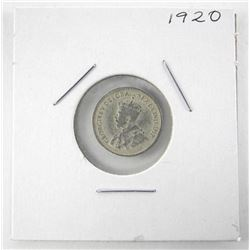 1920 Canada Silver 5 Cents