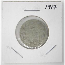1917 Canada Silver 25 Cents George