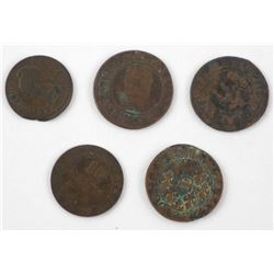 Lot (5) Early France Coins