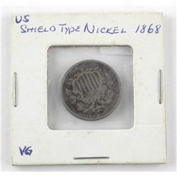 USA Shield Type Nickel 1868åÊ