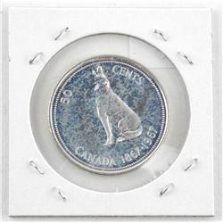 1867-1967 Canada Silver 50 Cent