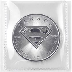 2016 .9999 Fine Silver $5.00 Coin 'Superman Shield'