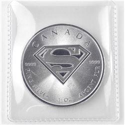 2016 .9999 Fine Silver $5.00 Coin 'Superman Shield'