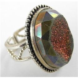 Estate 925 Sterling Silver Ring Oval Stone