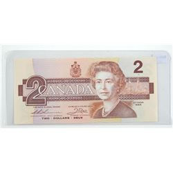 Bank of Canada 1986 2.00 RADAR NOTE