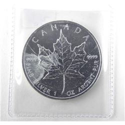2008 9.9 Fine Silver $5.00 Coin Maple Leaf.