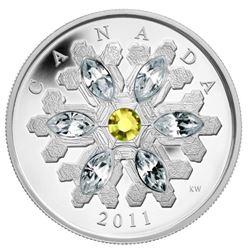 2011 $20 Topaz Crystal Snowflake - Pure Silver Coi