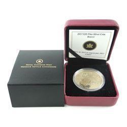 Estate 2012 9.9 Fine Silver 20.00 Coin Beaver SXR.