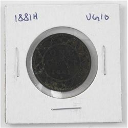 1881H Canada One Cent (VG-10) (KR)