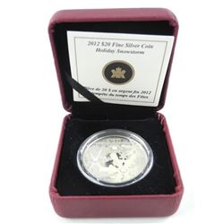 Estate 2012 9.9 Fine Silver 20.00 Coin Holiday Sno