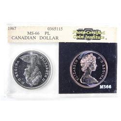 1967 Canada Silver Dollar MS66 PL.
