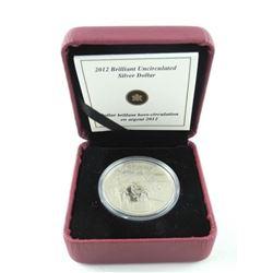 Estate 2012 BU Silver Dollar w/COA.