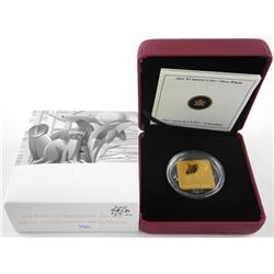 925 Sterling Silver w/24kt GP Square 3.00 Coin - O