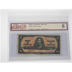 Bank of Canada 1937 2.00 G6 BCS.