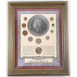 "Coins of King George VI Framed 11x14""."