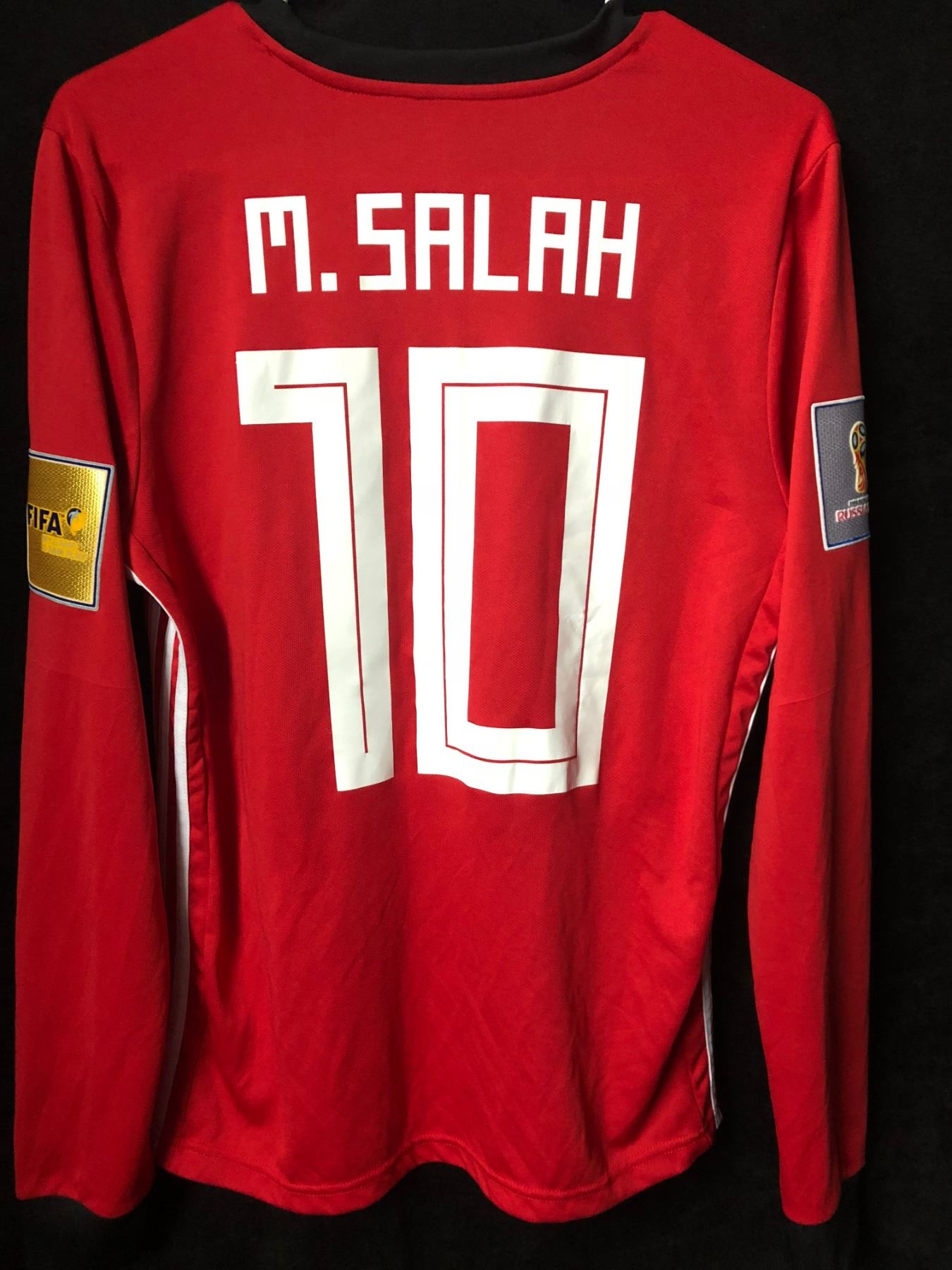 super popular f2d57 4cd13 Mohamed Salah #10 Egypt National Team Soccer Jersey (Medium)