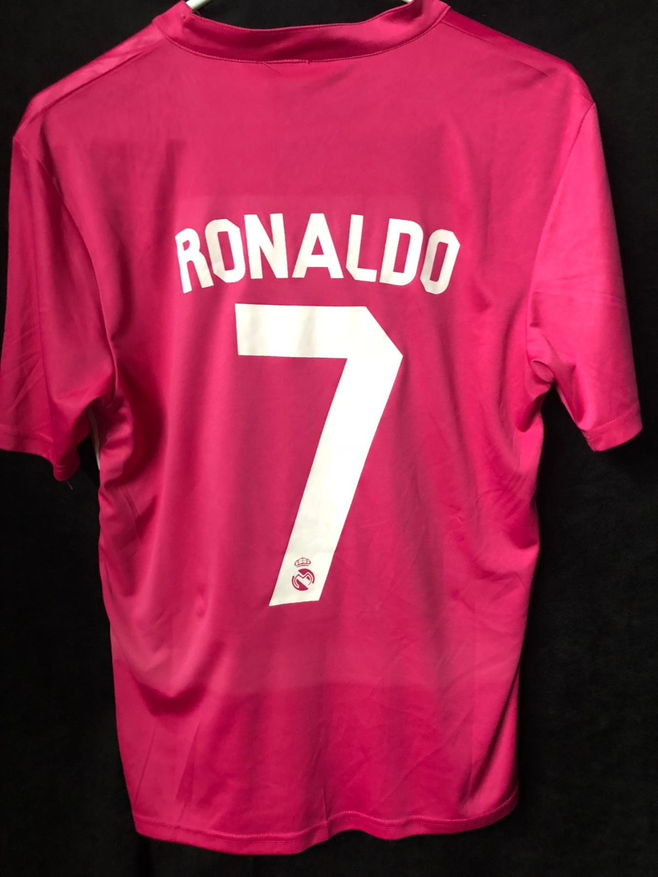 finest selection 37ed1 63d49 Cristiano Ronaldo Real Madrid Fly Emirates Pink Soccer Jersey (Small)