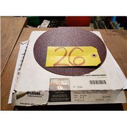"Carbo PREMIER Red Resin Paper stick-on Disc 8"" Gr.80"