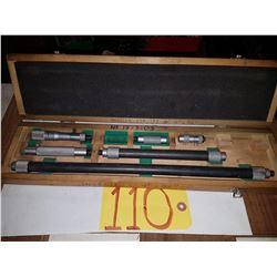 """Mitutoyo 139-179 Tubular Inside Micrometer Set 4"""" to 36"""""""
