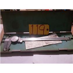 "Mitutoyo Dial Caliper 0-12"" Range .001 Model 505-645-50"