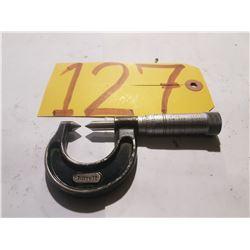 """STARRETT NO. 210-A 0 -7/8"""" SCREW THREAD COMPARATOR MICROMETER"""
