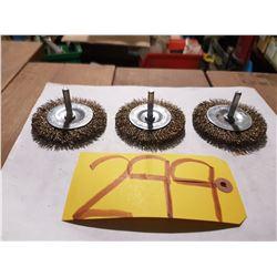 "1/4"" Stem-Mounted Wire Wheel 3"""