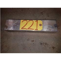 """Aluminum Bloc 12""""x2""""3/4x1""""5/8"""