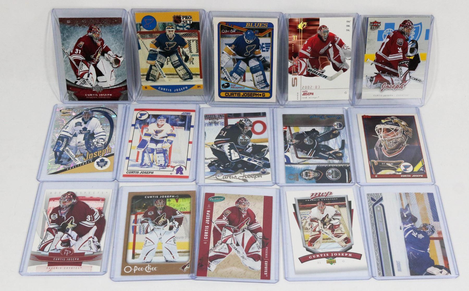 15 Various Curtis Joseph Hockey Cards Incl 3