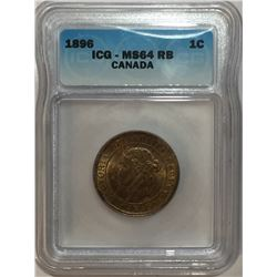 Canada 1896 Large Cent ICG MS64 R&B