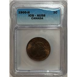 Canada 1900H Large Cent ICG AU58