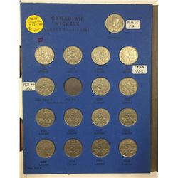 Canada 2x Whitman Albums with Nickels 1922-1960 and 1960-2014