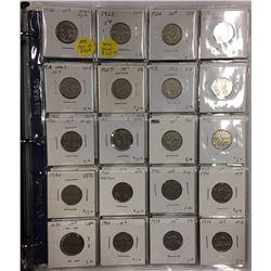 Canada 1922 - 2005 Nickels in Binder (140 pcs)
