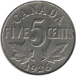 Canada 1926 Nickel 5 Cent F
