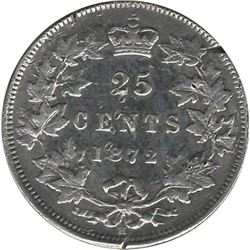 Canada 1872H Silver 25 Cent VG