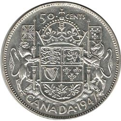 Canada 1947 ML St. 7 Left Silver 50 Cent VF