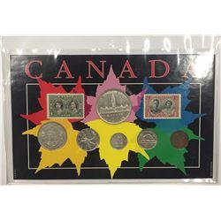 Canada 1939 Year Set in Maple Leaf Themed Holder
