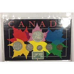 Canada 1949 Year Set in Maple Leaf Themed Holder