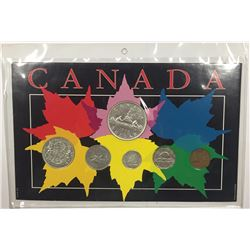 Canada 1950 Year Set in Maple Leaf Themed Holder